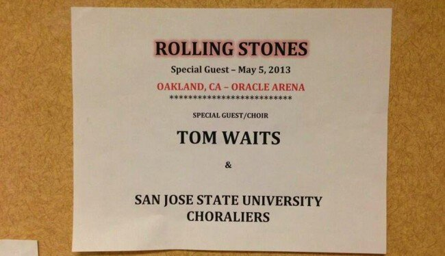 Tom Waits Joined The Rolling Stones For Concert