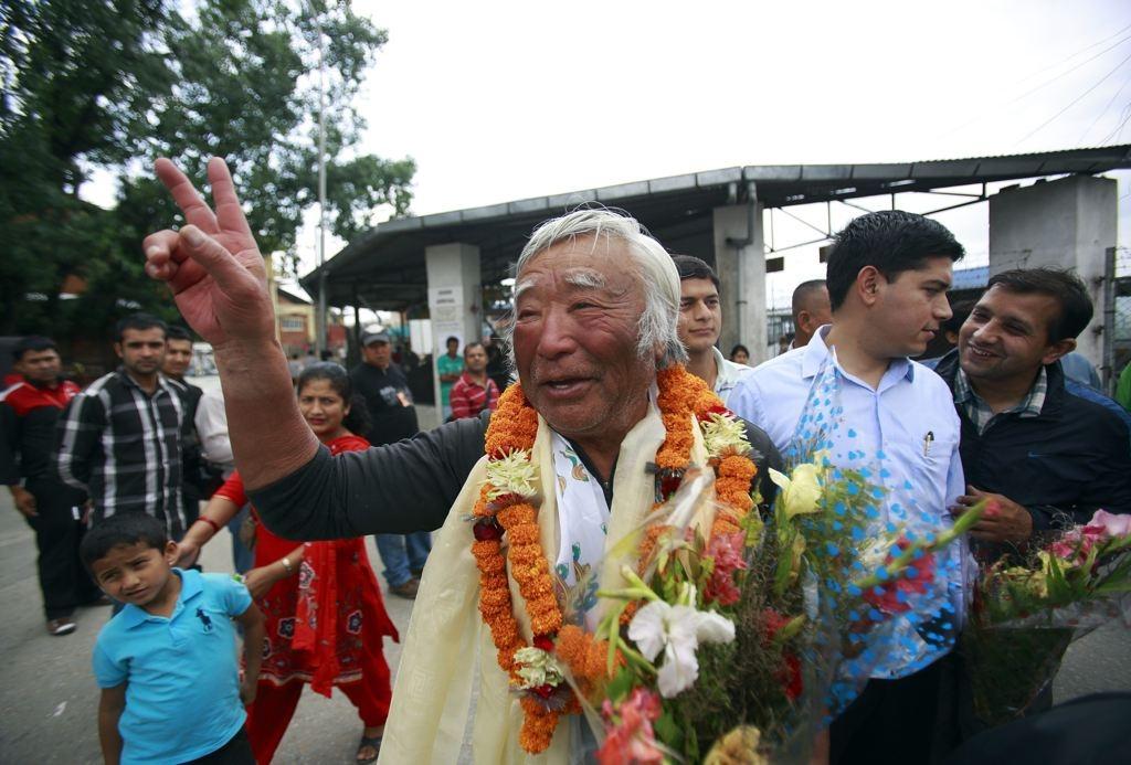 Japanese Climber,Yuichiro Miura, (80) Conquers Everest
