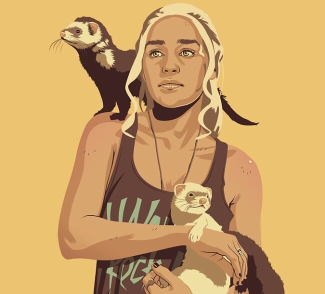 'Game of Thrones' Characters Reimagined As '80s And '90s Stereotypes от Veggie за 03 jun 2013
