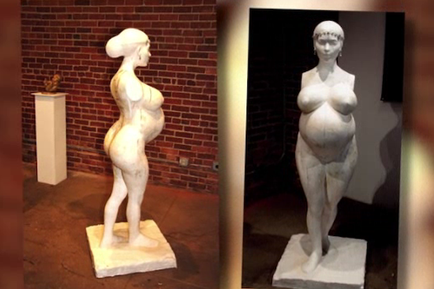 Pregnant Kim Kardashian Statue With No Arms Is Considered 'Art'