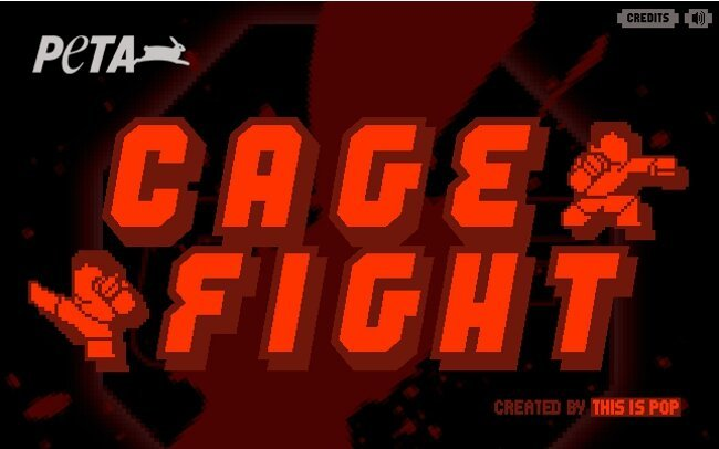 PETA Teams Up With MMA Fighters For Online Game, 'Cage Fight'
