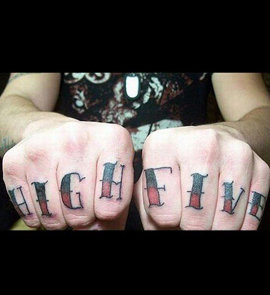 Terrible Knuckle Tattoos, Epic Fail