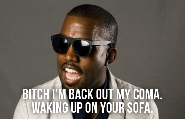 Crazy Bizarre Lyrics of Kanye West