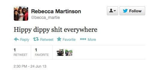 Rebecca Martinson Returned To Twitter Perfectly