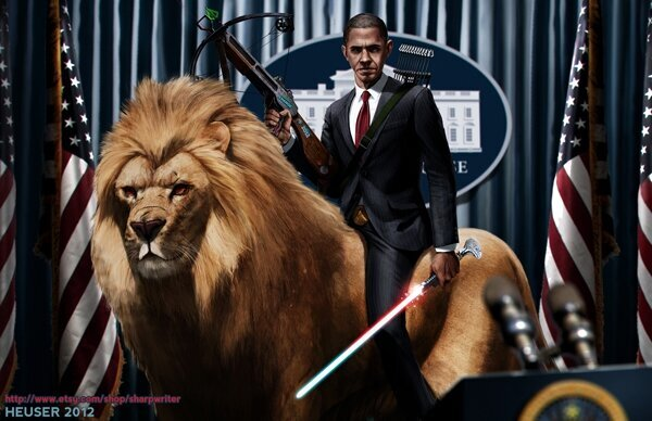 Epic Illustrations Of US Presidents Fighting In Battle