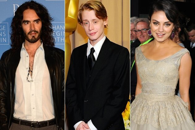 Russell Brand Wanted to Get With Mila Kunis who's into Macaulay Culkin