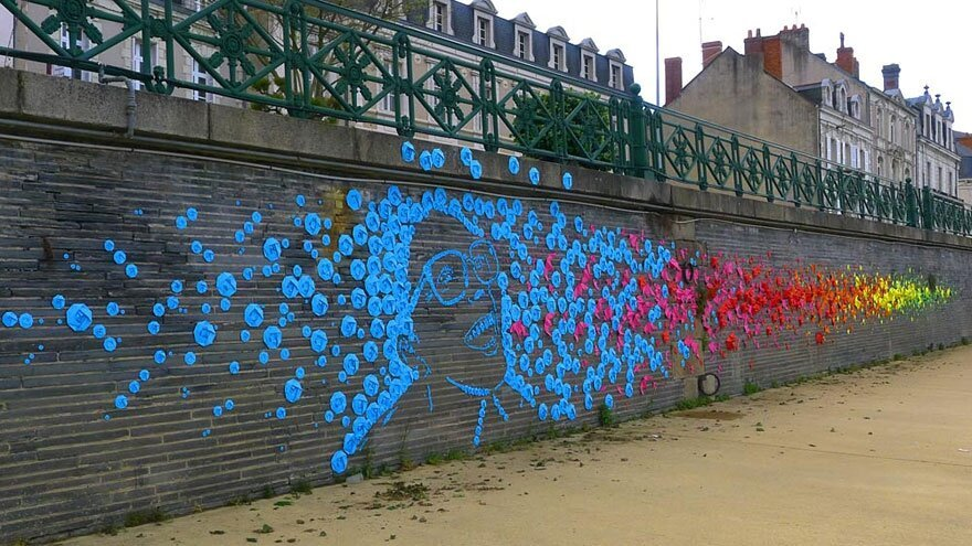New Origami Street Art by Mademoiselle Maurice