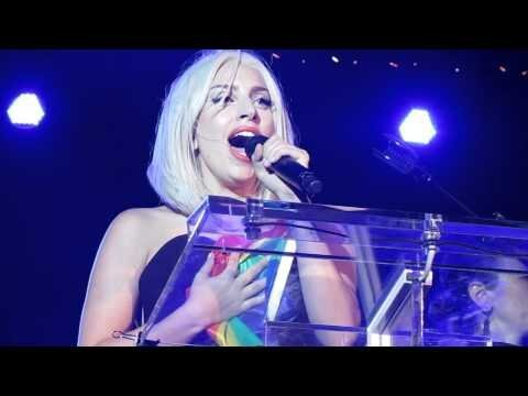 Lady Gaga in NYC Pride With a Speech on Her Lips & A Song in Her Heart