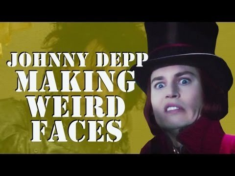 Johnny Depp Making Weird Faces- Hilarious Video
