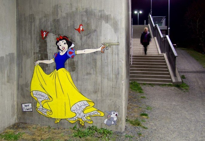 Disney princesses waiting to kill unwitting passersby