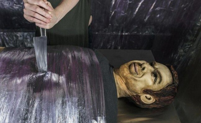 Watch: A Life-Size Dexter Birthday Cake Isn't Creepy At All