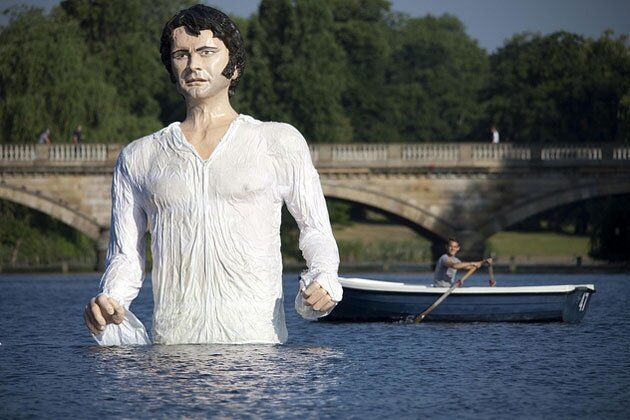 Gigantic Wet Mr. Darcy Statue Disturbing Everyone