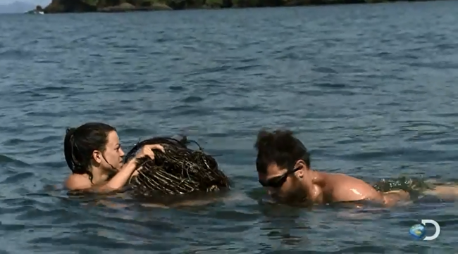 Watch The 'Skinny Dipping With Sharks' Clip From 'Naked & Afraid'