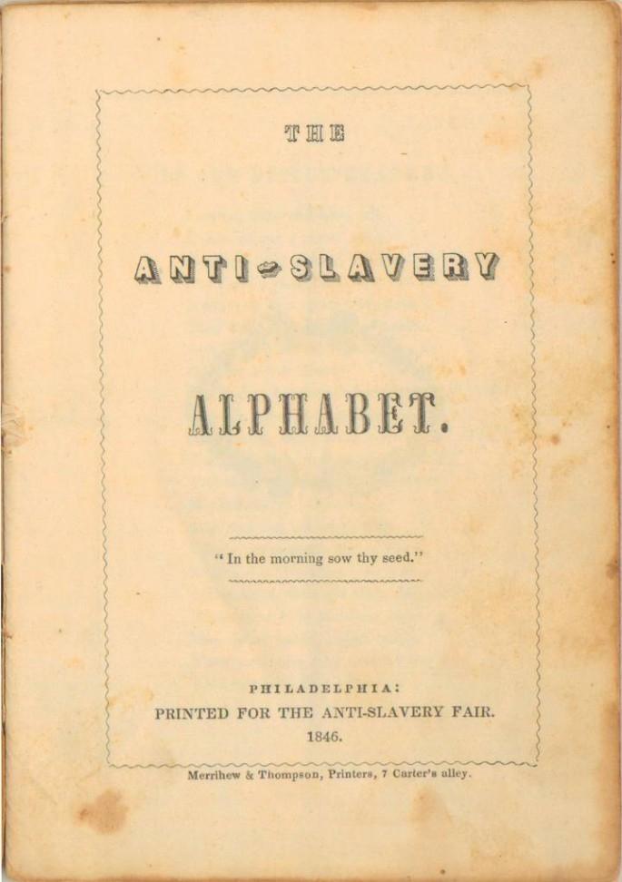 Anti-slavery alphabet