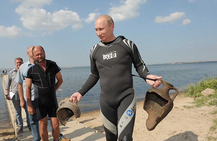 "Russian President Takes The Notion Of A ""Public Figure"" To An Extreme!"