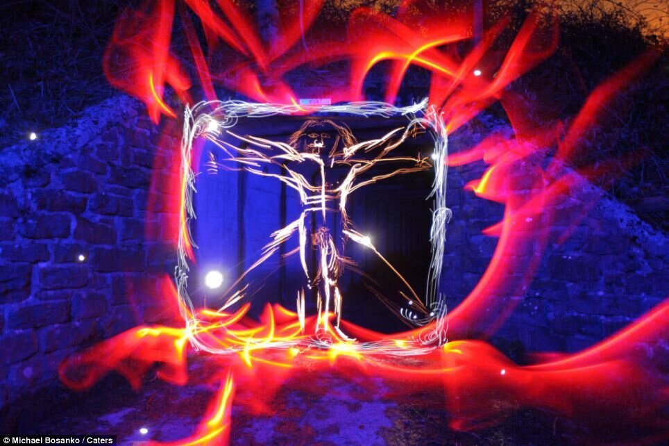 Astounding Light Torch Recreations Of Masterpieces By Michael Bosanko.