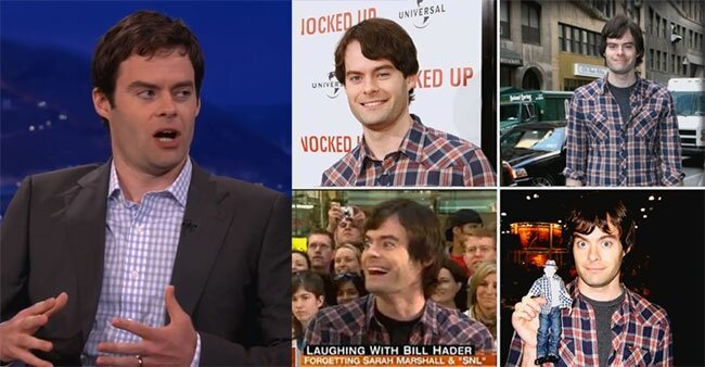 Bill Hader Always Wears The Same Shirt, Does Wife Impression