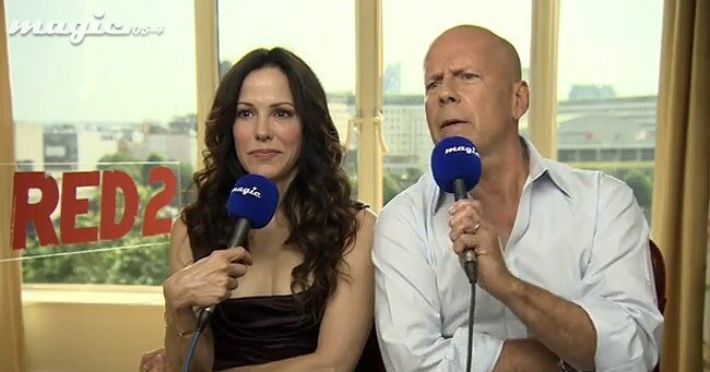VIDEO: Bruce Willis's Awkward Interview for Red 2 on British Radio