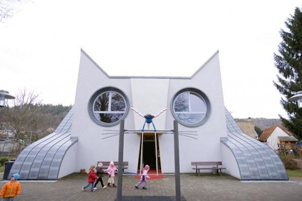 Cute Cat-Shaped Kindergarten