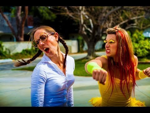 Famous Stuntwomen Reenact Chicken Fight From 'Family Guy'