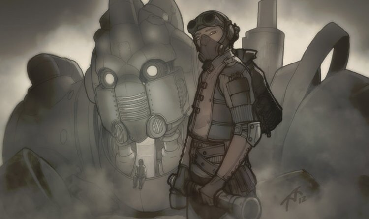 Cool Steampunk Inspired Robot Fantasy Art