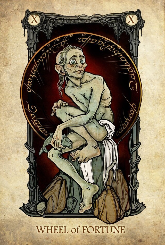 Lord of the Rings Characters Illustrated as Tarot Cards