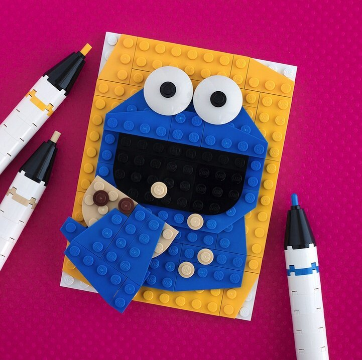 LEGO Pop-Culture Portraits by Chris McVeigh