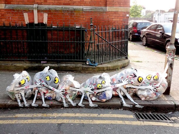 London's Piles Of Rubbish Transformed Into Works Of Art