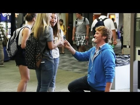 Magician Proposes to Strangers After Fooling Them With a Card Trick