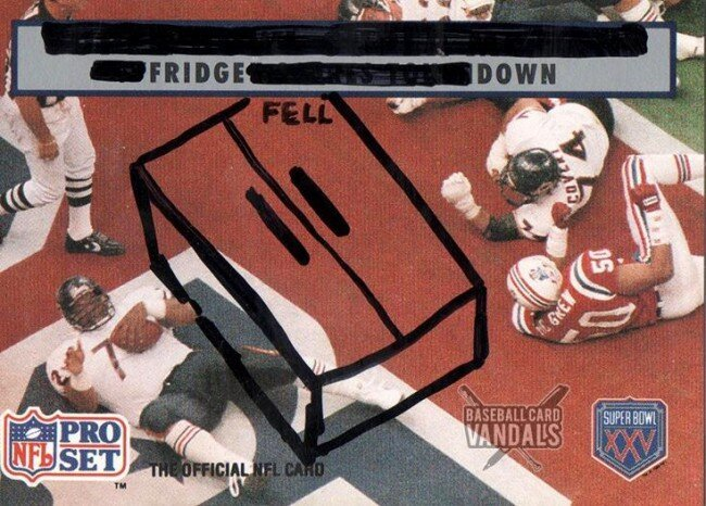 The Baseball Card Vandals Made Football Cards For The NFL Season