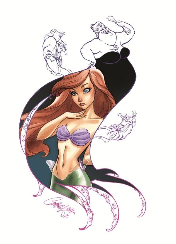 Disney Princess and Villain Art Series by J. Scott Campbell