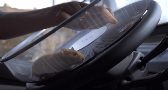 Volvo Uses A Hamster To Drive A Semi
