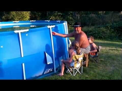 Cowboy Grandpa Empties Pool With Box Cutter, Pandemonium Ensues
