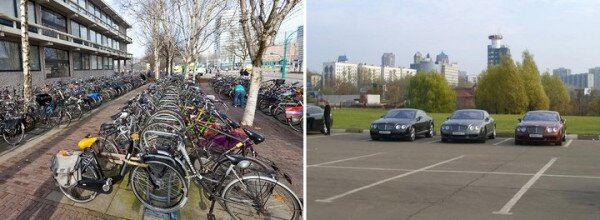 University's of Amsterdam and Moscow parking