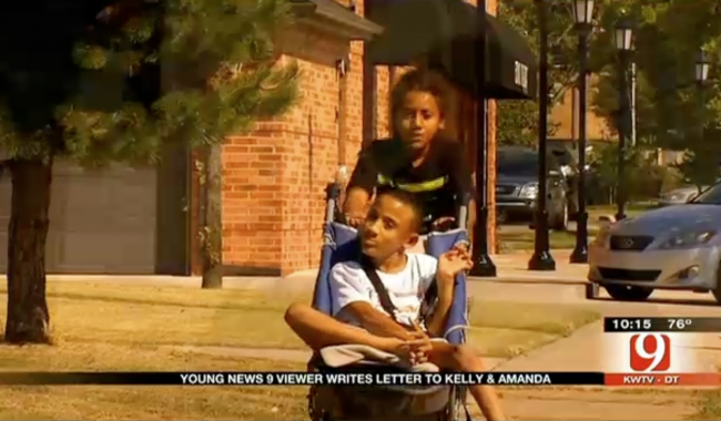 An Oklahoma Boy Asked The News For Help To Push His Brother In A 5K
