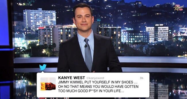 Watch Jimmy Kimmel Address Kanye West's Twitter Rant In His Monologue
