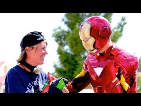 Iron Man Helps the Homeless