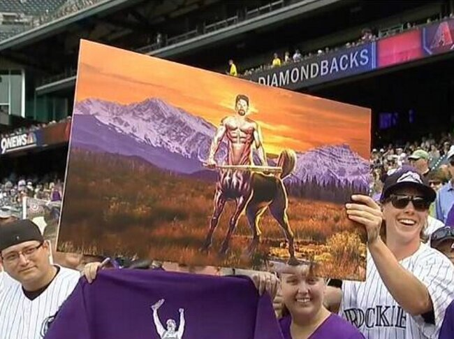 A Rockies Fan Showed Todd Helton A Painting Of Him As A Centaur
