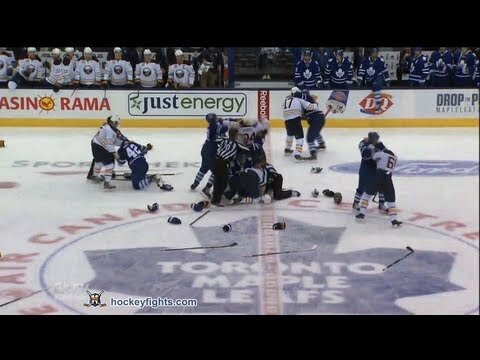 The Buffalo Sabres & Toronto Maple Leafs Had A 5-Minute Brawl