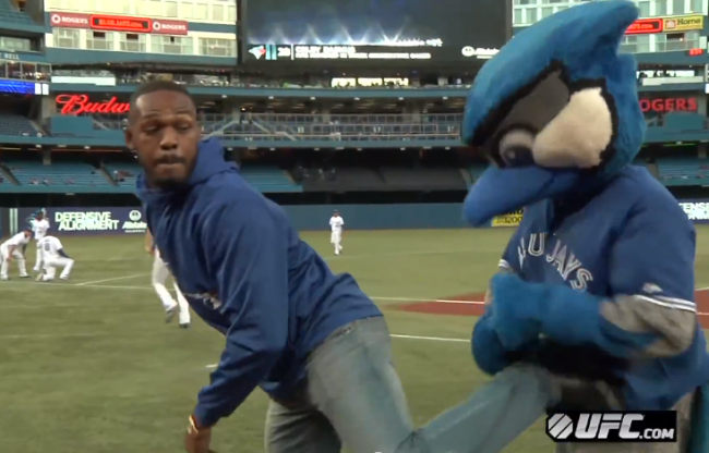 Jon Bones Jones' Threw Out The First Pitch Before A Blue Jays Game