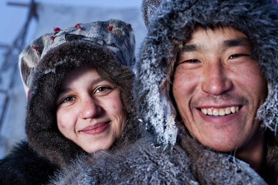 Photos of nomadic tribe of reindeer herders