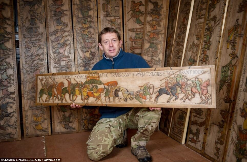 230 ft long replica of Bayeux Tapestry