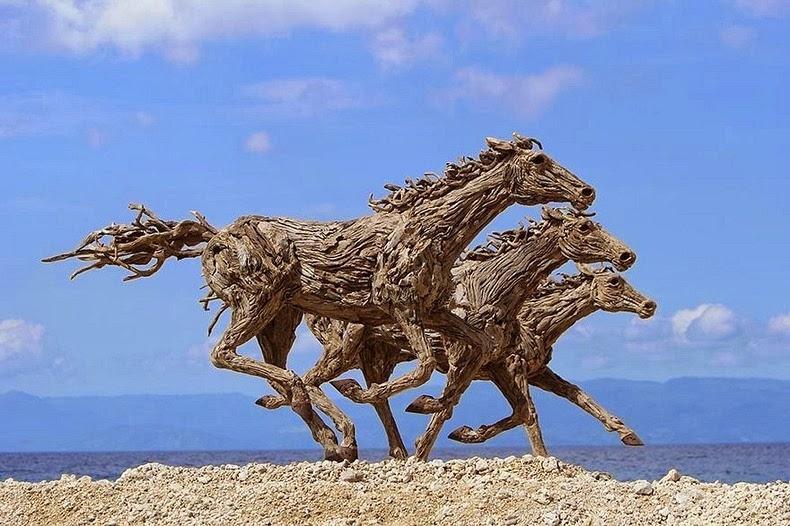 Amazing driftwood sculptures