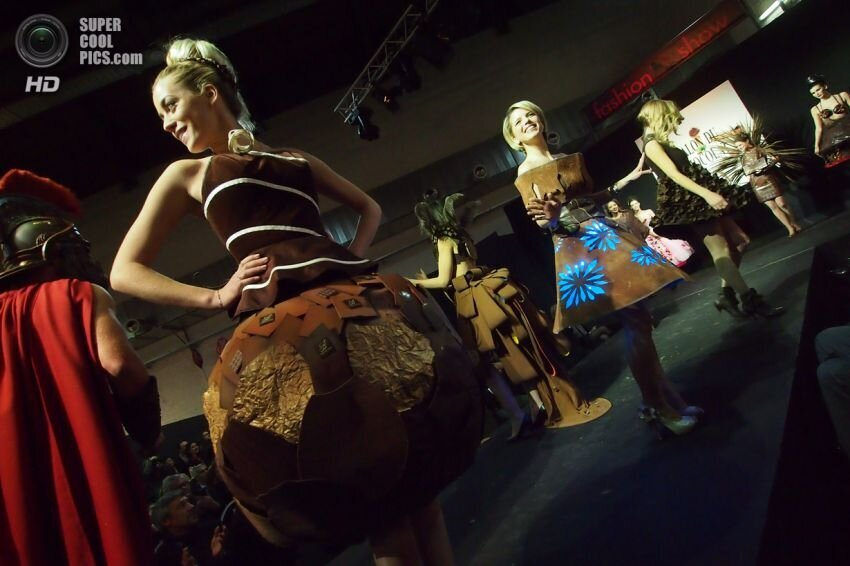 Chocolate fashion show in Brussels
