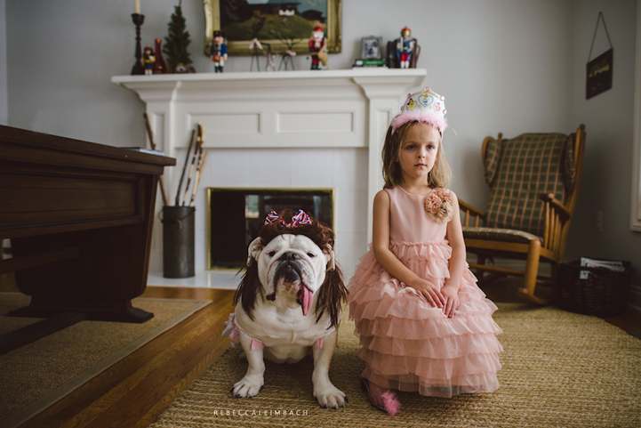 A Young Girl Who's Best Friends with an English Bulldog