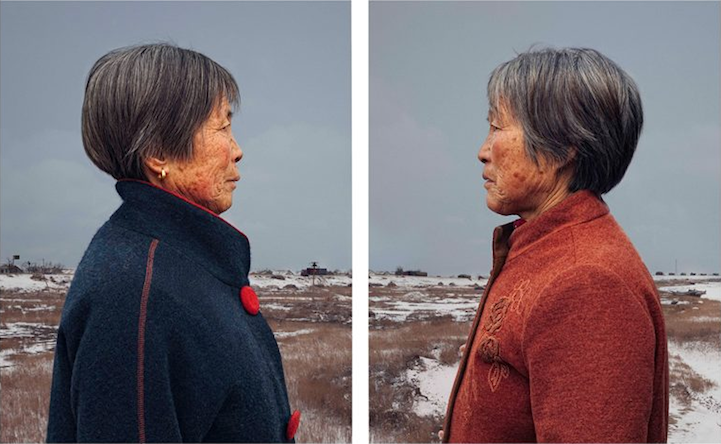Portraits of Identical Twins at Age 50