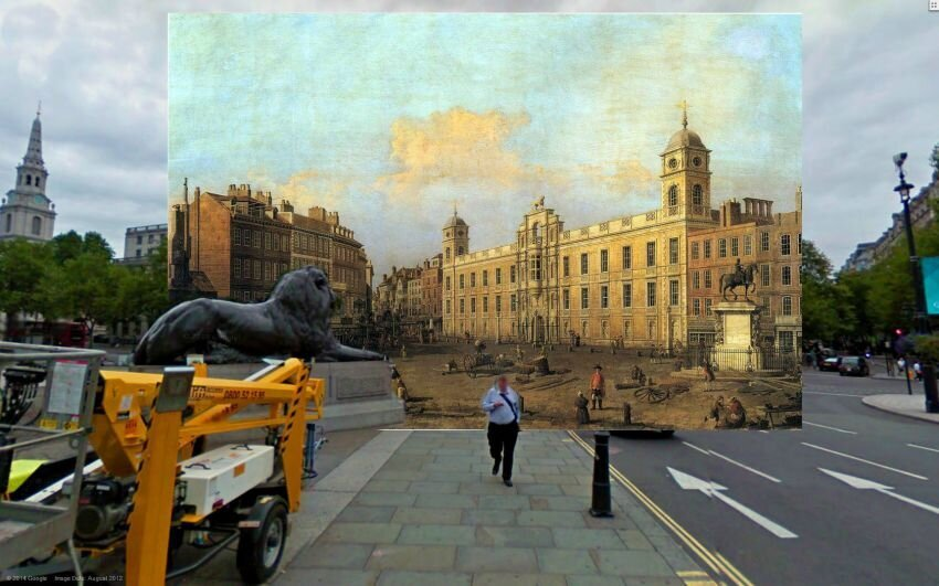 18-19th-century London paintings meet Google Street View – in pictures