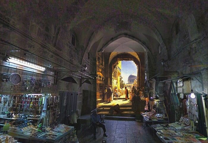 Classic paintings of world cities meet Google Street View – in picture