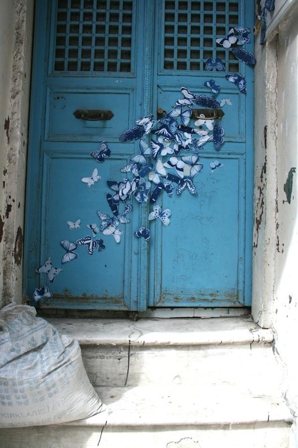 Street Art Project Spreads 4,000 Blue Butterflies Throughout the World
