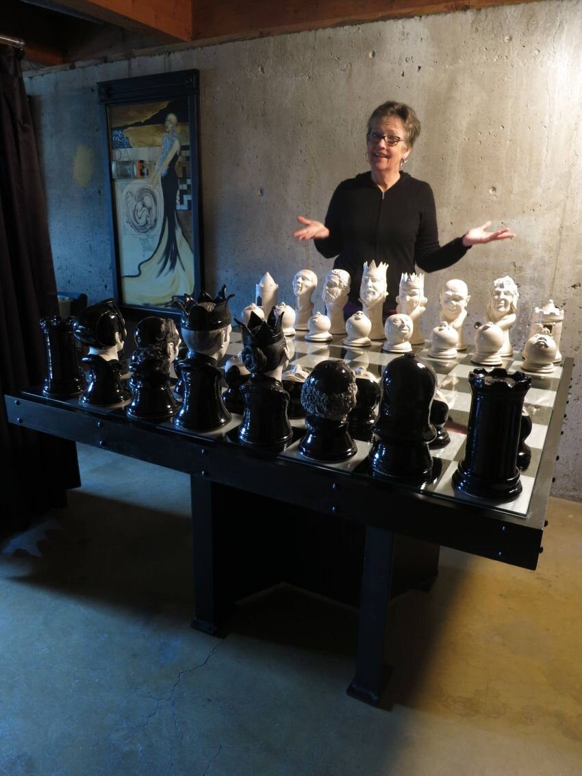 Seattle Artist Creates Massive 3D Chess Set